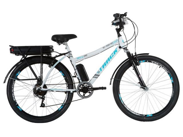 Bicicleta Elétrica Track Bikes TKE Urbana 350W Aro 26 Branca