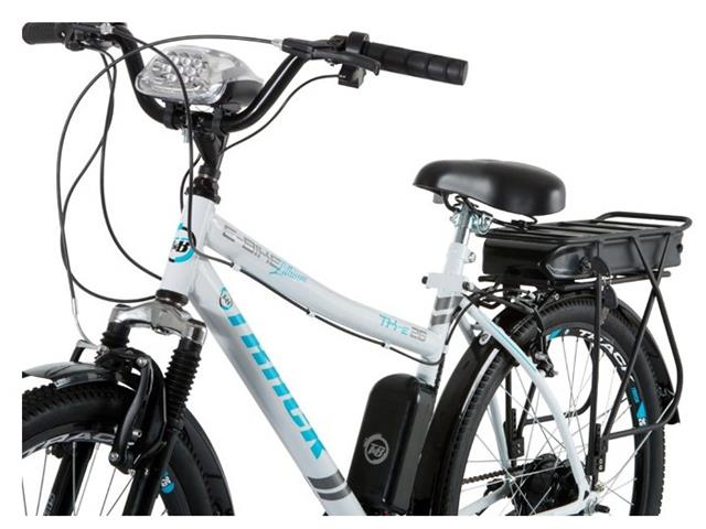 Bicicleta Elétrica Track Bikes TKE Urbana 350W Aro 26 Branca - 1