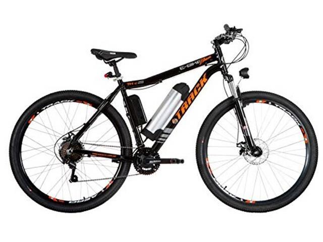 Bicicleta Elétrica Track Bikes MTB 21V Shimano 350W Aro 29 Preta