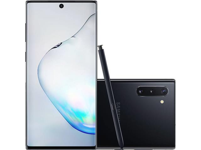 "Smartphone Samsung Galaxy Note 10 4G 6.3"" 256GB 8GB 12+16+12MP Preto"