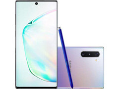 "Smartphone Samsung Galaxy Note 10 4G 6.3"" 256GB 8GB 12+16+12MP Prata - 0"