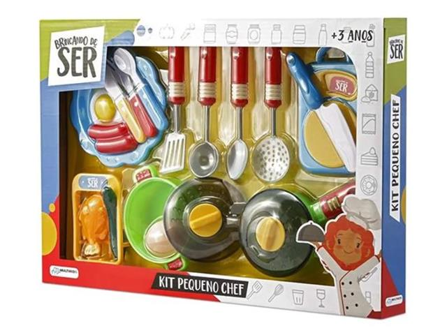Brincando de Ser Pequeno Chef Multikids BR954 com Acessórios Sortidos