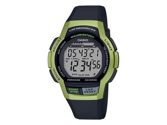 Relógio Digital Casio Standart Preto e Verde WS-1000H-3AVDF