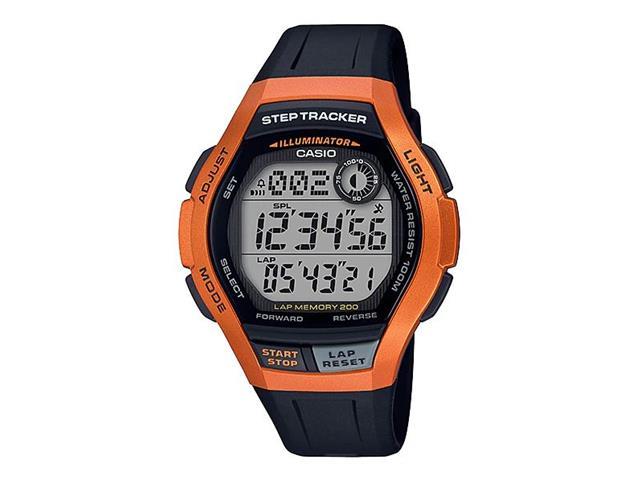 Relógio Digital Casio Standart Preto e Laranja WS-2000H-4AVDF
