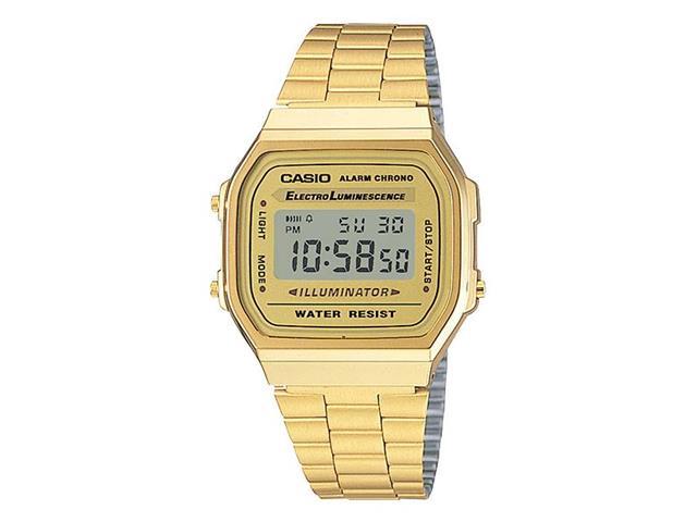 Relógio Digital Casio Vintage Dourado A168WG-9WDF