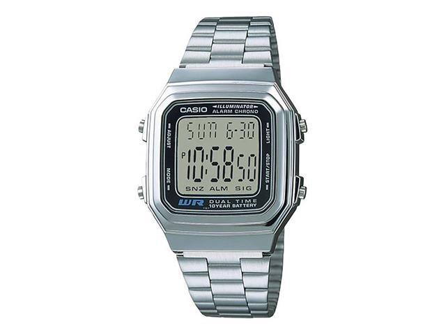Relógio Digital Casio Vintage Cromado A178WA-1ADF