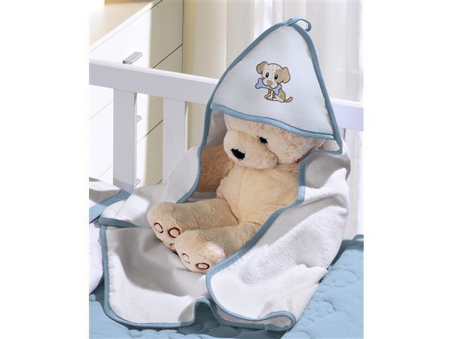 Toalha Infantil Buettner Baby Felpuda Bordada Little Dog Azul