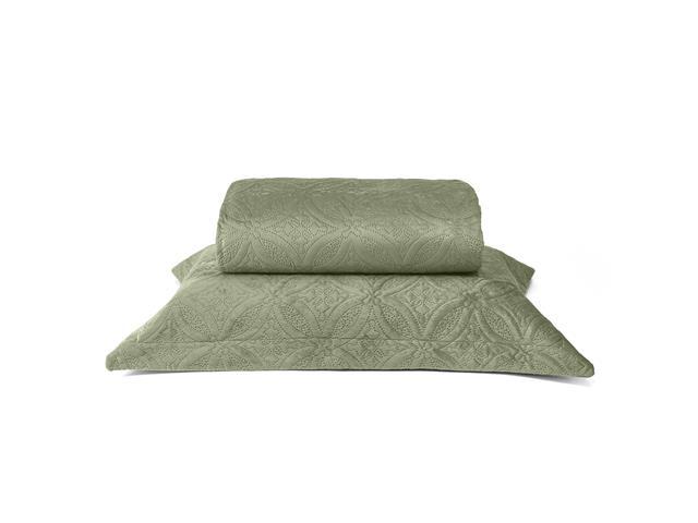Colcha de Solteiro Buettner Micromink Lotus Verde Claro - 1