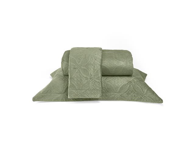 Colcha Queen Buettner Micromink Lotus Verde Claro - 1