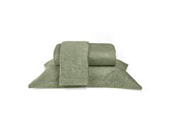 Colcha King Buettner Micromink Lotus Verde Claro - 1