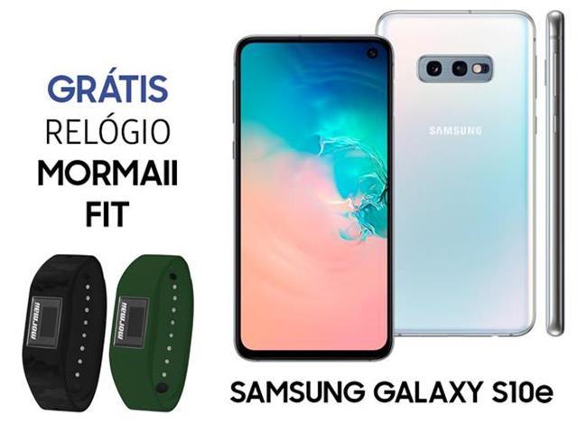 Smartphone Samsung Galaxy S10e 128GB Branco+Relógio Mormaii Fit
