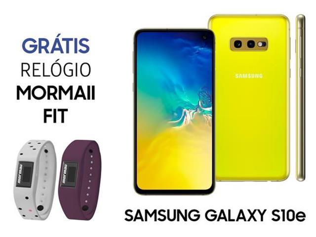 Smartphone Samsung Galaxy S10e 128GB Amarelo+Relógio Mormaii Fit