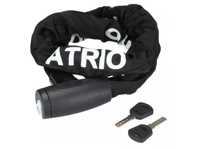 Cadeado com Chave Atrio para Bicicleta 8mm Comprimento de 100cm Preto - 1