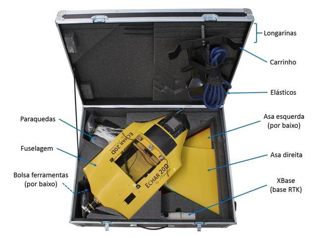 Drone XMobots Echar 20D Grãos VLOS com RTK HAG L1 L2 L5 Voo até 120m - 4