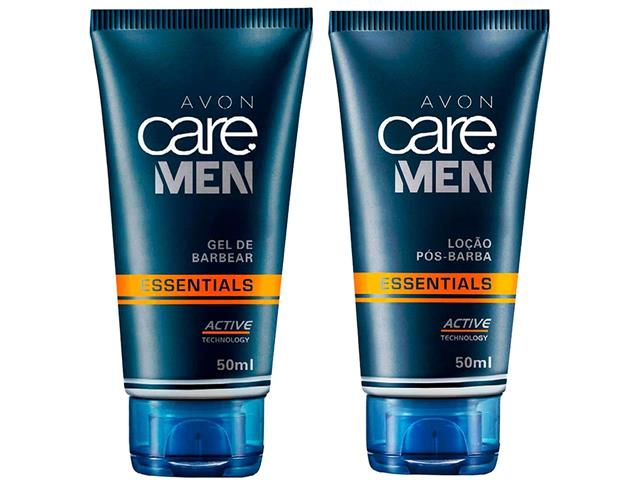 Combo Avon Care Men Essentials Gel de Barbear e Pós Barba