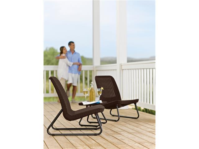 Conjunto Keter de Área Externa Rio Patio Set Mesa e 2 Cadeiras - 1
