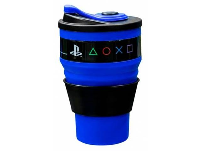 Copo Retratil Kathavento Playstation 400Ml Azul