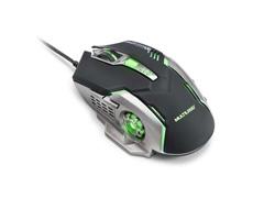 Mouse Gamer Multilaser MO269 2400DPI com 6 Botões Grafite e Preto
