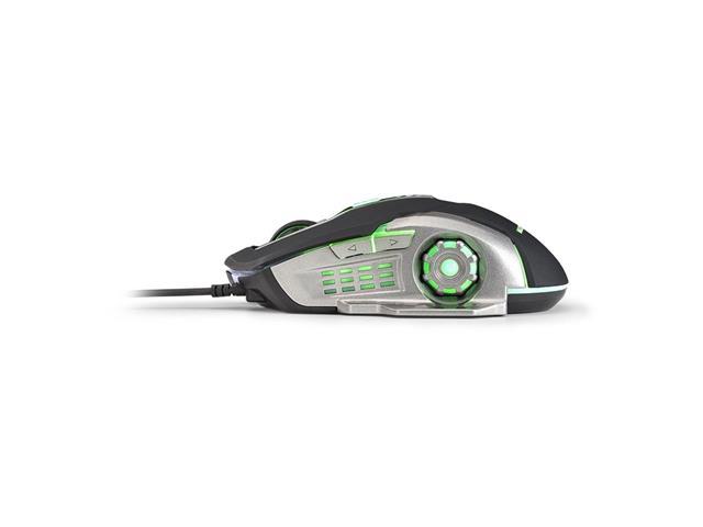Mouse Gamer Multilaser MO269 2400DPI com 6 Botões Grafite e Preto - 3