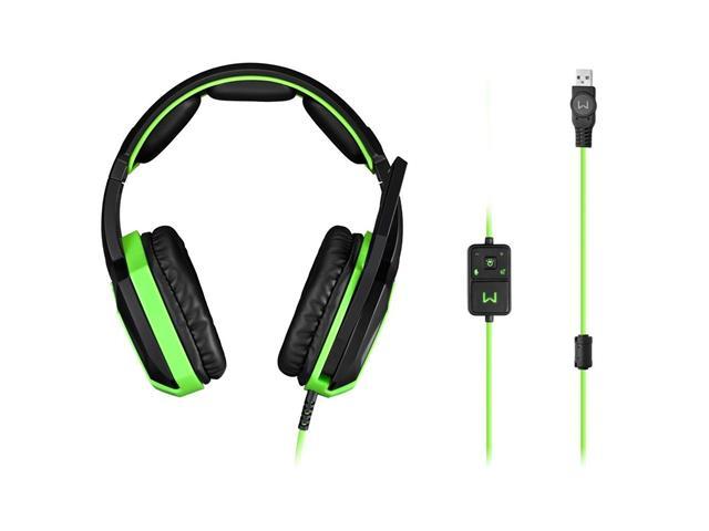 Headset Gamer Multilaser Warrior Ares PH224 USB 7.1 Surround 3D Verde - 3