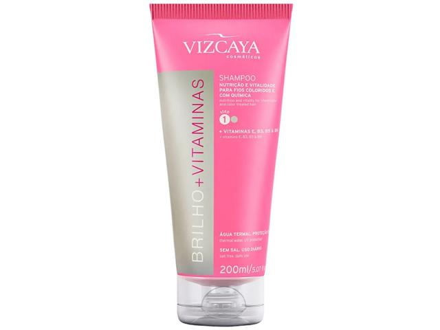Shampoo Vizcaya Brilho + Vitaminas 200ml - 0
