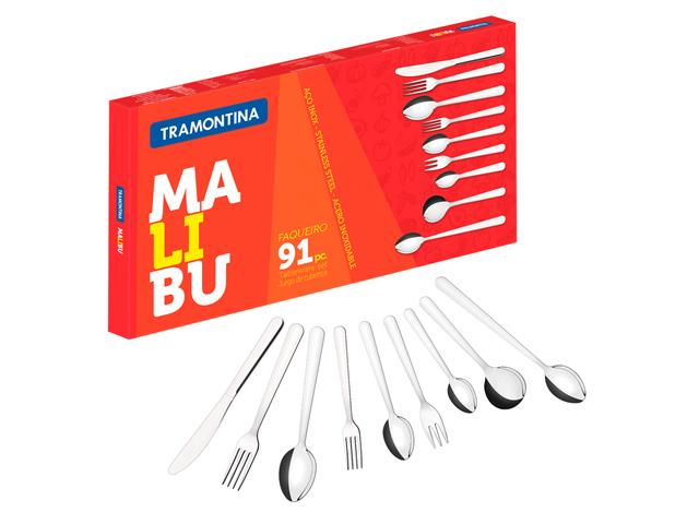 Faqueiro Tramontina Malibu Inox 91 peças