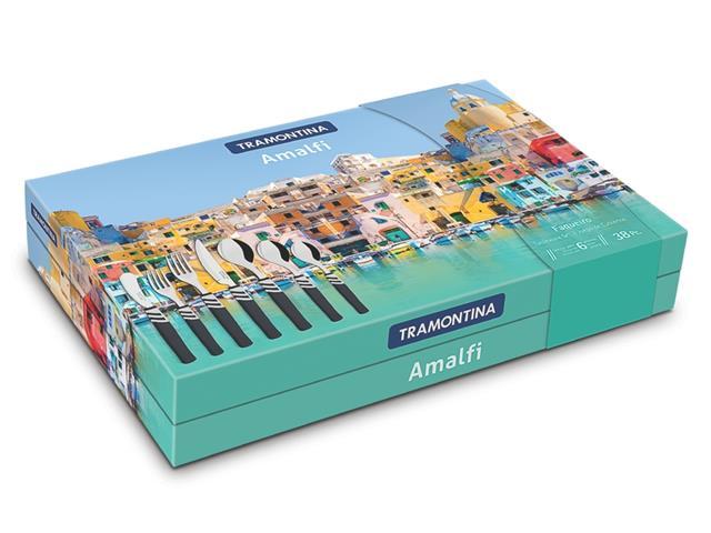 Faqueiro Tramontina Amalfi Inox Preto 38 Peças - 1