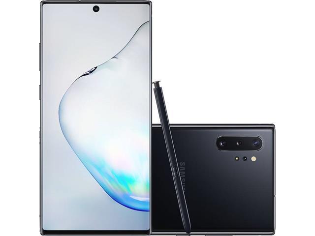 "Smartphone Samsung Galaxy Note 10+ 4G 6.8"" 256GB 12GB 12+16+12MP Preto"