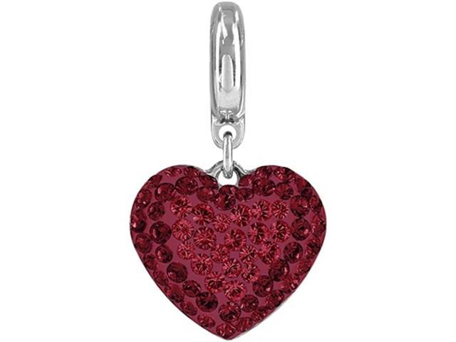 BeCharmed DSE Decorado com Cristais da Swarovski® Coração Vermelho
