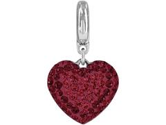BeCharmed Pingente Coração Decorado com Cristal da Swarovski® Vermelho