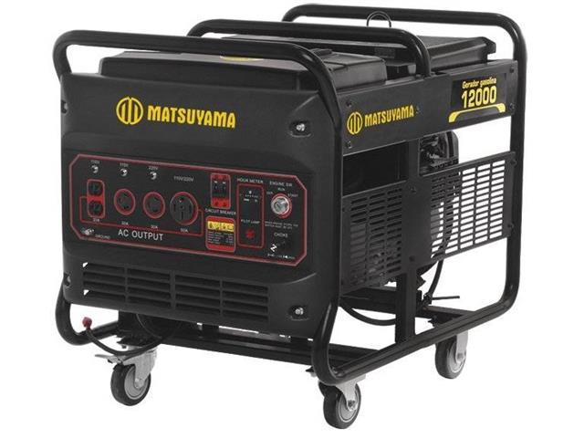 Gerador de Energia à Gasolina Matsuyama 12000 PE Monofásico 110V/220V