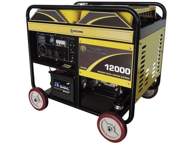 Gerador de Energia à Diesel Matsuyama 12000 PE Monofásico 110V / 220V