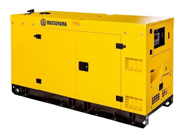 Gerador de Energia à Diesel Matsuyama Silenciado 25 KVA Trifásico 220V