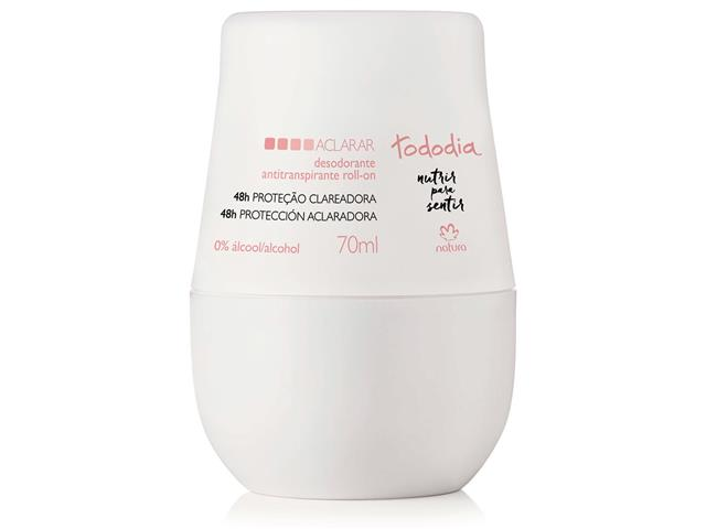 Desodorante Roll-on Natura TodoDia Aclarar Antitranspirante 70ml