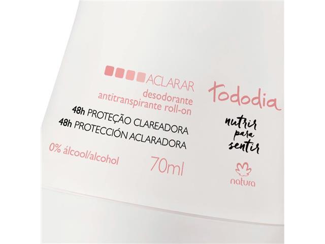 Desodorante Roll-on Natura TodoDia Aclarar Antitranspirante 70ml - 1