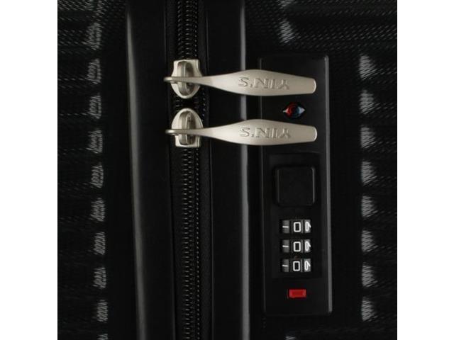 Foto 4 - Mala de Bordo Yins YS21027PT em ABS com Rodas 360º Tam 20 Preta