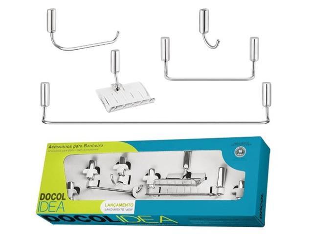 Kit de Acessórios Docol Idea para Banheiro 5 Peças Cromado