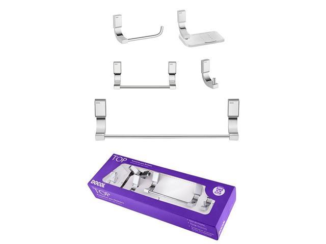 Kit de Acessórios Docol Top para Banheiro 5 Peças Cromado