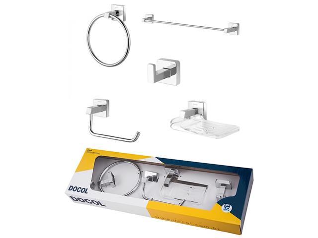 Kit de Acessórios Docol Trip para Banheiro 5 Peças Cromado