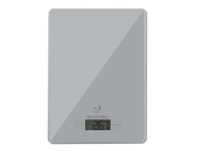 Balança Eletrônica de Cozinha Multilaser Tela LCD Touch Capacidade 5Kg