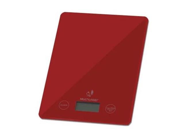 Balança Eletrônica Multilaser Vermelha Tela LCD Touch Suporta até 5Kg