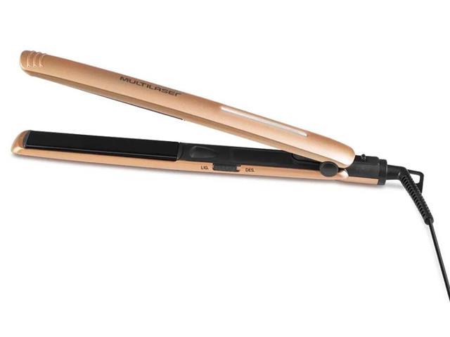 Foto 2 - Chapinha Modeladora Multilaser Gold de Cerâmica Ionizada 30W Bivolt