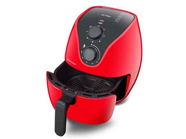 Fritadeira Elétrica Air Fryer Multilaser 4 Litros Vermelha 1500W 110V - 1