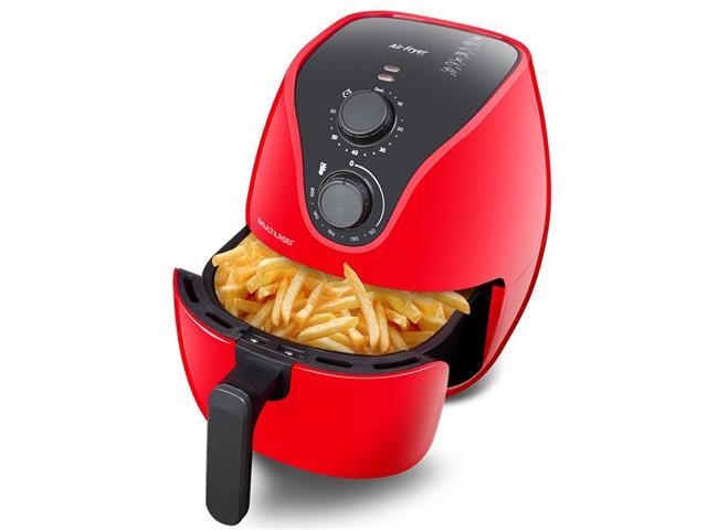 Fritadeira Elétrica Air Fryer Multilaser 4 Litros Vermelha 1500W 110V