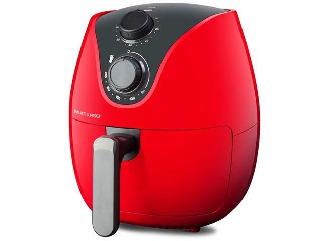 Fritadeira Elétrica Air Fryer Multilaser 4 Litros Vermelha 1500W 110V - 2