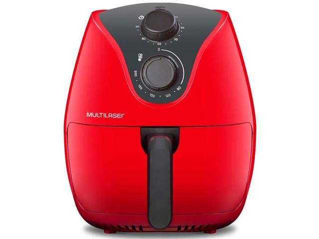 Fritadeira Elétrica Air Fryer Multilaser 4 Litros Vermelha 1500W 110V - 3