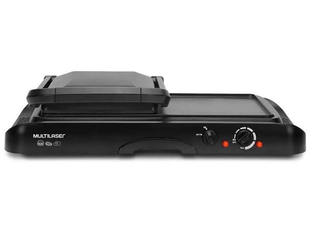 Chapa Grill Multilaser 2 em 1 com Coletor de Gordura Preto 220V - 3