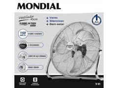 Ventilador de Piso Mondial Turbo Action 5000 Premium Cromado - 1