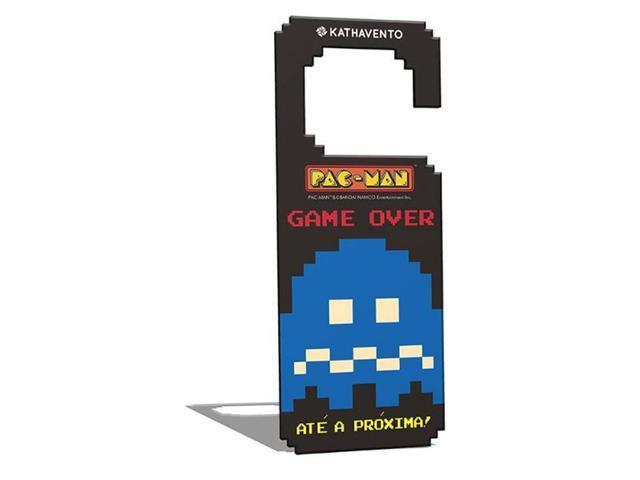 Aviso de Porta Kathavento Pac-Man Fantasminha Azul