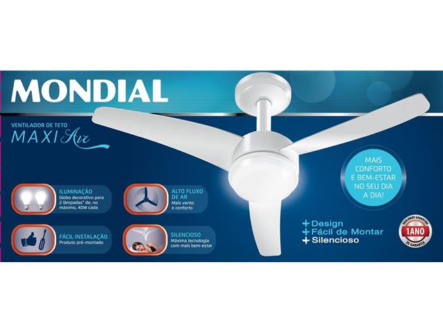 Ventilador de Teto Mondial Maxi Air VTE-01 Branco 220V - 3